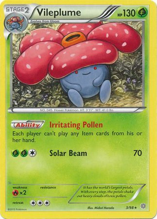 POKEMON Single Card XY - ANCIENT ORIGINS - 003/98 : Vileplume