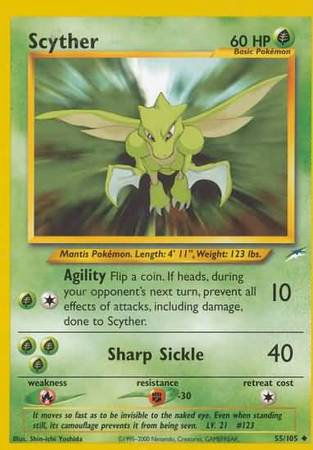 POKEMON Single Card NEO DESTINY - 055/105 : Scyther