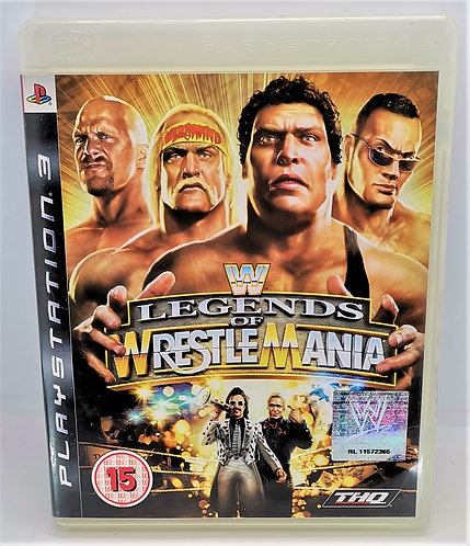 WWE Legends of WrestleMania for Sony PlayStation 3 PS3