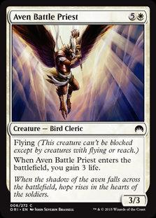 MAGIC THE GATHERING MAGIC ORIGINS Card - 006/272 : Aven Battle Priest