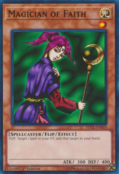Yu-Gi-Oh! Card SDJ-017 Magician of Faith