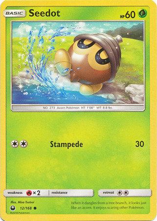 POKEMON Single Card SUN AND MOON - CELESTIAL STORM - 012/168 : Seedot