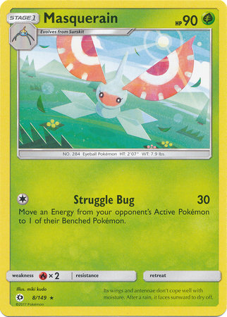 POKEMON Single Card SM - SUN & MOON BASE SET - 008/163 : Masquerain