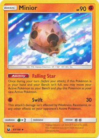 POKEMON Single Card SUN AND MOON - CELESTIAL STORM - 083/168 : Minior