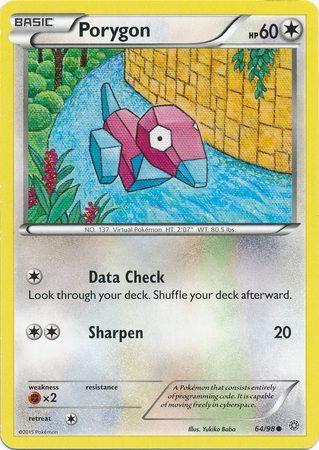 POKEMON Single Card XY - ANCIENT ORIGINS - 064/98 : Porygon
