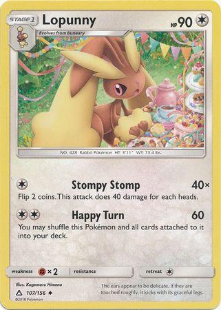 POKEMON Single Card SM - ULTRA PRISM - 107/156 : Lopunny