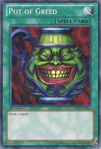 Yu-Gi-Oh! Card SD3-EN019 Pot of Greed 1st Edition