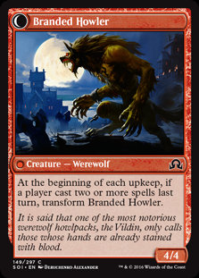 MAGIC THE GATHERING SHADOWS OVER INNISTRAD Card 149/297 Convicted /Branded Howl