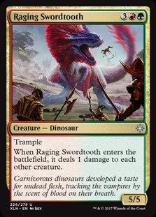MAGIC THE GATHERING IXALAN Card - 226/289 : Raging Swordtooth
