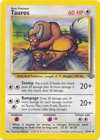 POKEMON Single Card JUNGLE - 47/64 : Tauros