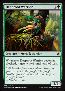 MAGIC THE GATHERING IXALAN Card - 186/289 : Deeproot Warrior
