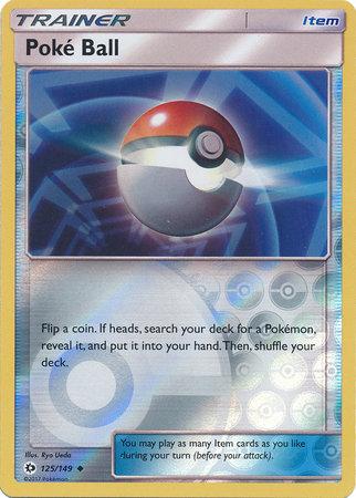POKEMON Single Card SM - SUN & MOON BASE SET (Reverse Holo) - 125/149 Poké Ball