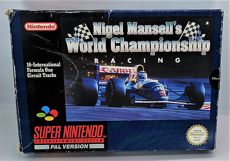 Nigel Mansell's World Championship Racing for Super Nintendo SNES