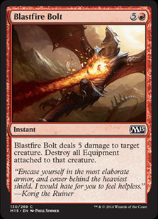 MAGIC THE GATHERING MAGIC 2015 Single Card - 130/269 : Blastfire Bolt