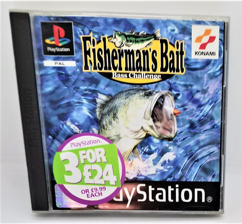 Fisherman's Bait: A Bass Challenge for Sony PlayStation PS1