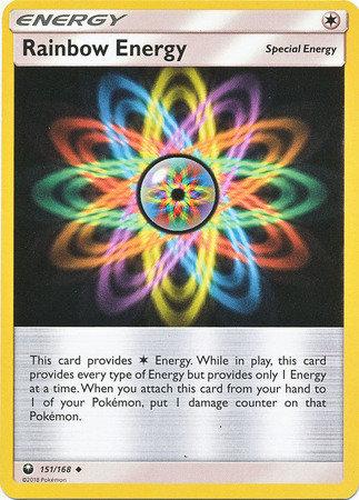 POKEMON Single Card SUN AND MOON - CELESTIAL STORM - 151/168 : Rainbow Energy
