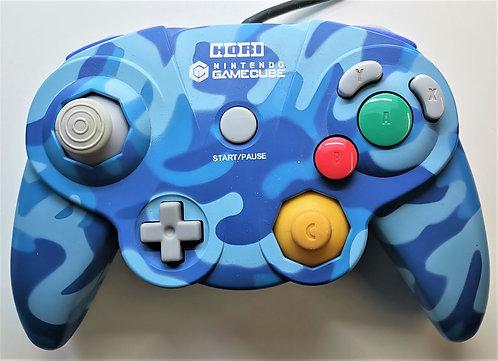 Hori Controller (Blue Camo) for Nintendo GameCube
