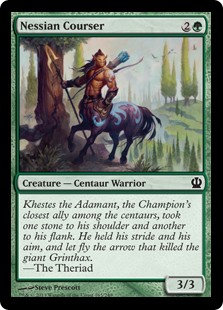 MAGIC THE GATHERING THEROS Single Card - 165/249 : Nessian Courser