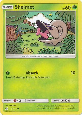 POKEMON Single Card SUN AND MOON - CRIMSON INVASION - 008/111 : Shelmet