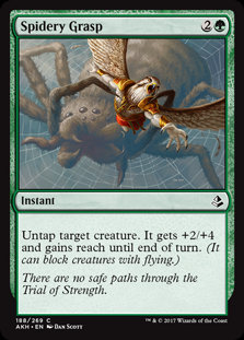 MAGIC THE GATHERING AMONKHET Card - 188/287 : Spidery Grasp