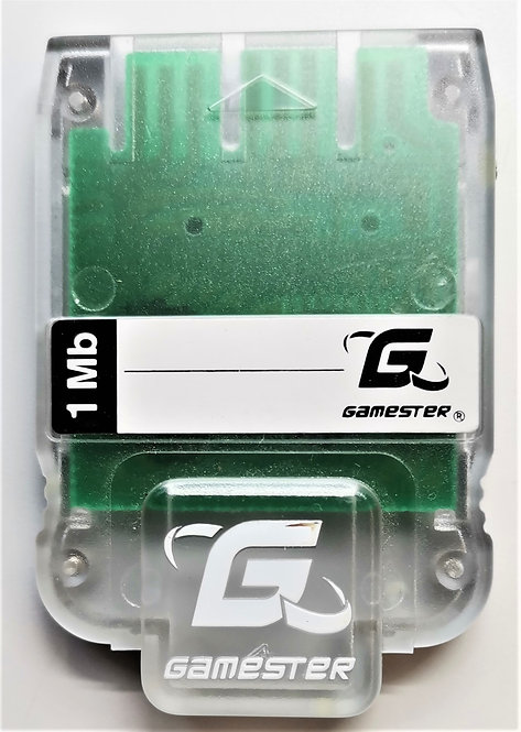 Gamester 1MB Memory Card (Clear) for Sony PlayStation P