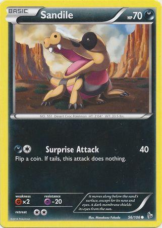 POKEMON Single Card XY - FLASHFIRE - 056/106 : Sandile
