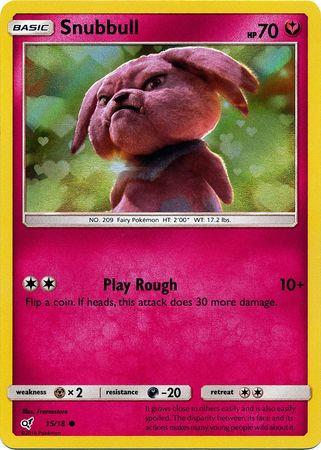 POKEMON Single Card Detective Pikachu 15/18 - Snubbull