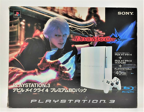 Sony PlayStation 3 40GB (Devil May Cry 4 Ceramic White Variant) Console