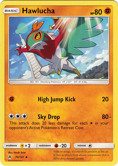 POKEMON Single Card SM - FORBIDDEN LIGHT - 070/131 : Hawlucha