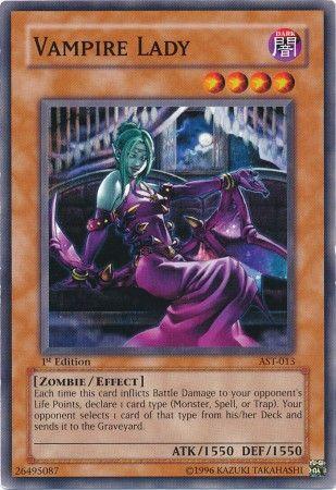 Yu-Gi-Oh! Card AST-013 Vampire Lady