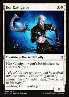 MAGIC THE GATHERING BATTLE FOR ZENDIKAR Card - 035/274 : Kor Castigator