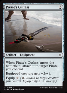 MAGIC THE GATHERING IXALAN Card - 242/289 : Pirate's Cutlass