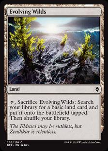 MAGIC THE GATHERING BATTLE FOR ZENDIKAR Card - 236/274 : Evolving Wilds