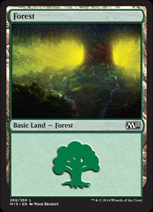 MAGIC THE GATHERING MAGIC 2015 Single Card - 268/269 : Forest