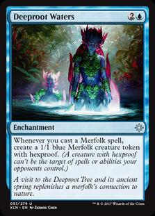 MAGIC THE GATHERING IXALAN Card - 051/289 : Deeproot Waters