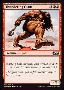 MAGIC THE GATHERING WELCOME DECK 2017 Single Card - 023/030 : Thundering Giant