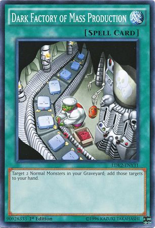Yu-Gi-Oh! Card YS14-EN029 Dark Factory of Mass Production 1st Edition