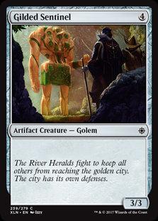 MAGIC THE GATHERING IXALAN Card - 239/289 : Gilded Sentinel