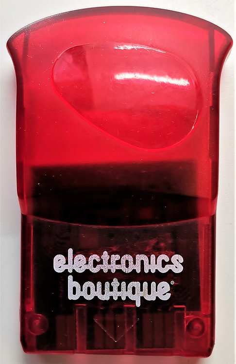Electronics Boutique 1MB Memory Card (Clear Red) for Sony PlayStation P