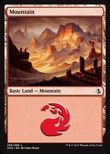 MAGIC THE GATHERING AMONKHET Single Card - 266/269 : Mountain