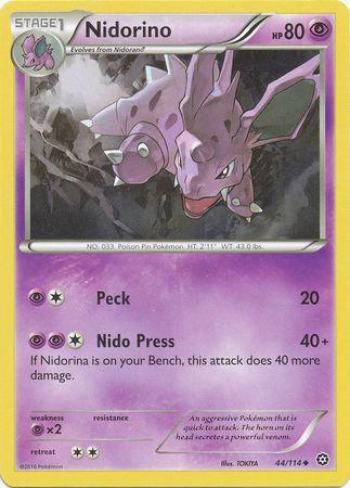 Pokemon Single Card XY - STEAM SIEGE - 044/114 : Nidorino