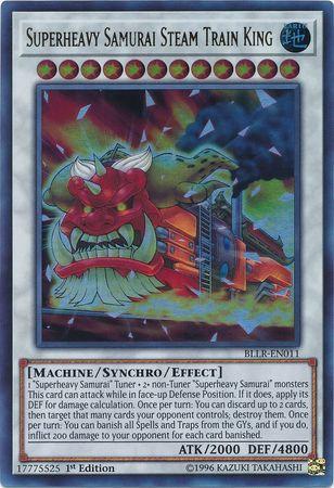 Yu-Gi-Oh! Card BLLR-EN011 Superheavy Samurai Steam Train King 1st Edition