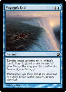 MAGIC THE GATHERING THEROS Card - 073/249 : Voyage's End