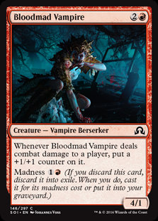 MAGIC THE GATHERING SHADOWS OVER INNISTRAD Card - 146/297 : Bloodmad Vampire