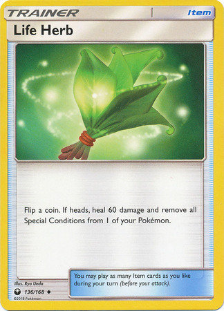 POKEMON Single Card SUN AND MOON - CELESTIAL STORM - 136/168 : Life Herb