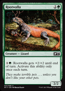 MAGIC THE GATHERING WELCOME DECK 2017 Single Card - 027/030 : Rootwalla