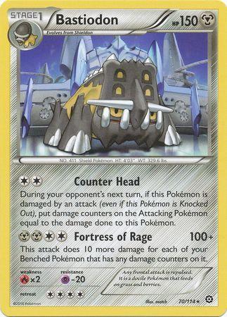 Pokemon Single Card XY - STEAM SIEGE - 070/114 : Bastiodon