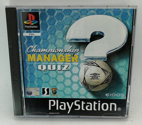 Championship Manager Quiz for Sony PlayStation PS1