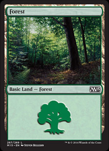 MAGIC THE GATHERING MAGIC 2015 Card - 267/269 : Forest