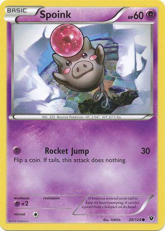 POKEMON Single Card XY - FATES COLLIDE - 030/124 : Spoink